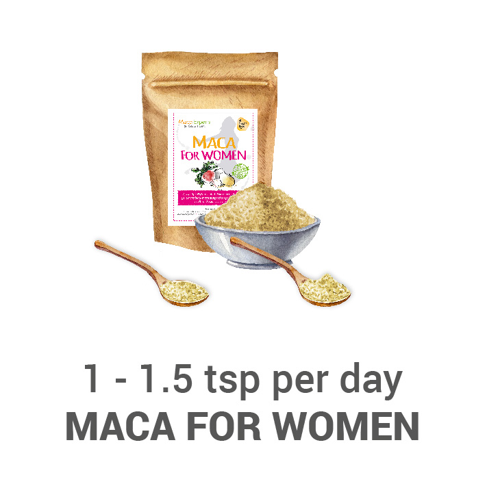 Treating with maca for women