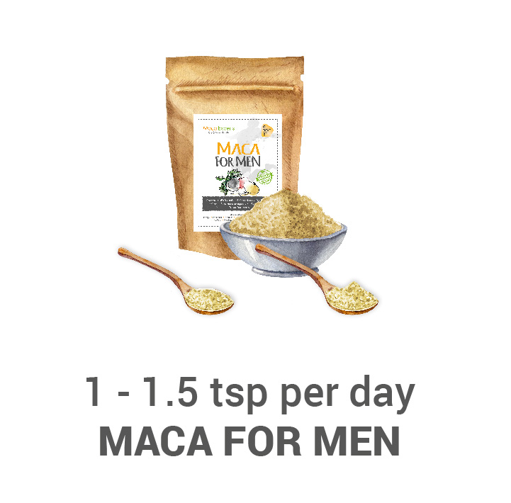 Treating with maca for men
